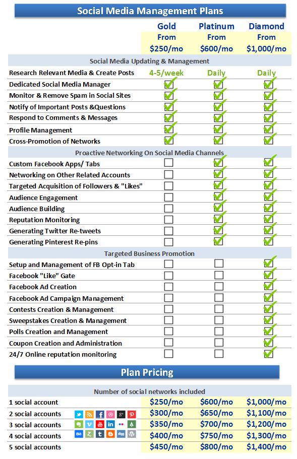 Social Media Management Plans